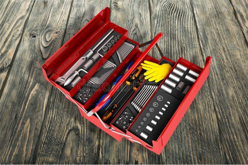 Toolbox fotografia stock