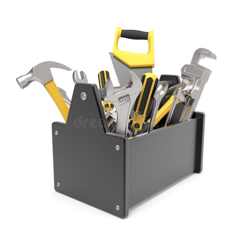 toolbox 3d на белой предпосылке стоковая фотография