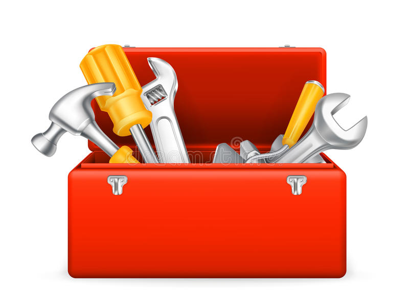 Toolbox icon royalty free illustration