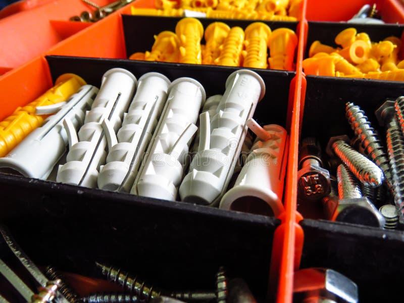 Toolbox organiyer box stock images