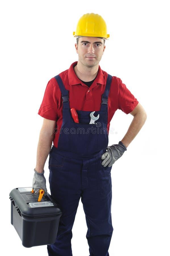 toolbox pracownik zdjęcia stock