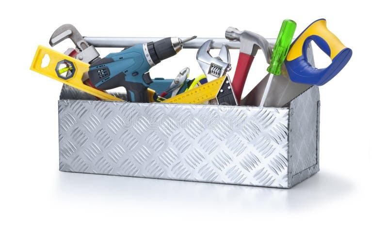 toolbox pudełkowaci narzędziowi narzędzia fotografia stock