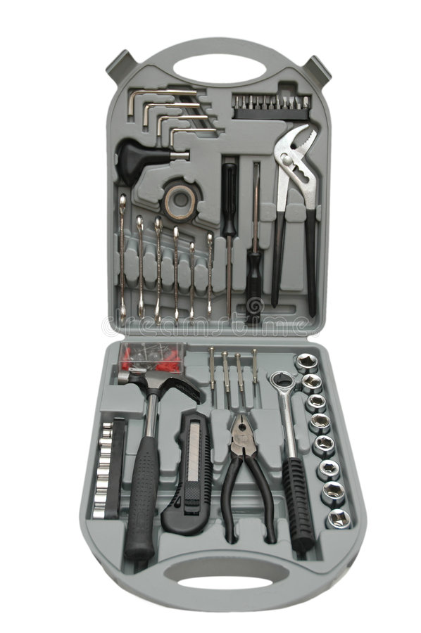Download Toolbox with various tools stock photo. Image of make - 1472284