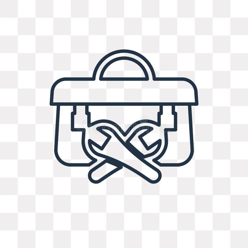 Toolbox wektorowa ikona odizolowywająca na przejrzystym tle, liniowy T ilustracja wektor