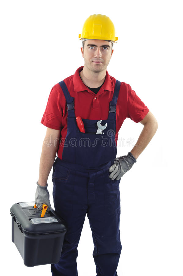 Toolbox worker stock photos