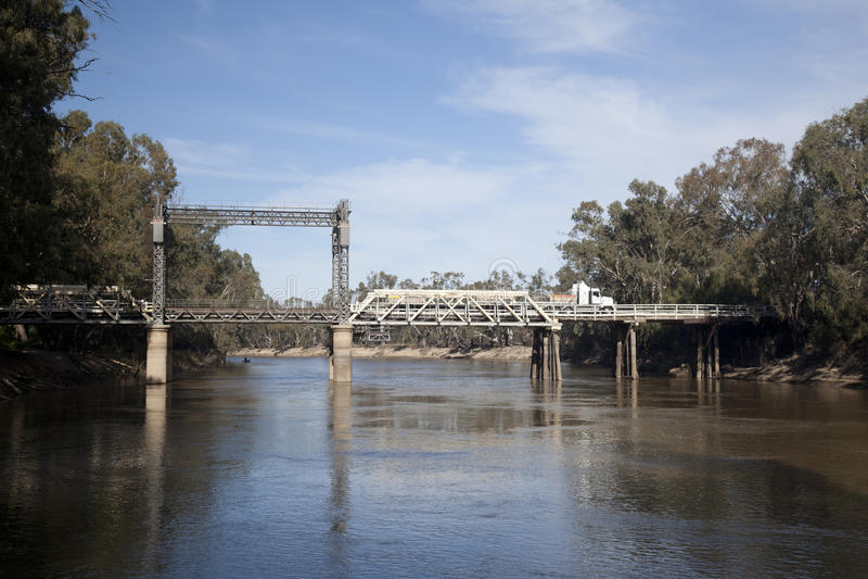 Tooleybuc Lift Span Bridge royalty free stock photography