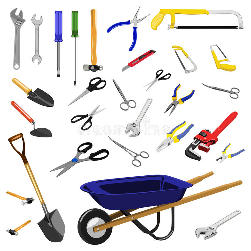 Download Tools stock vector. Illustration of garden, blue, mechanic - 13716314
