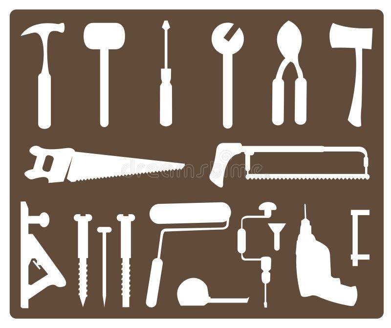 Download Tools stock vector. Illustration of hammer, pegboard - 16142465