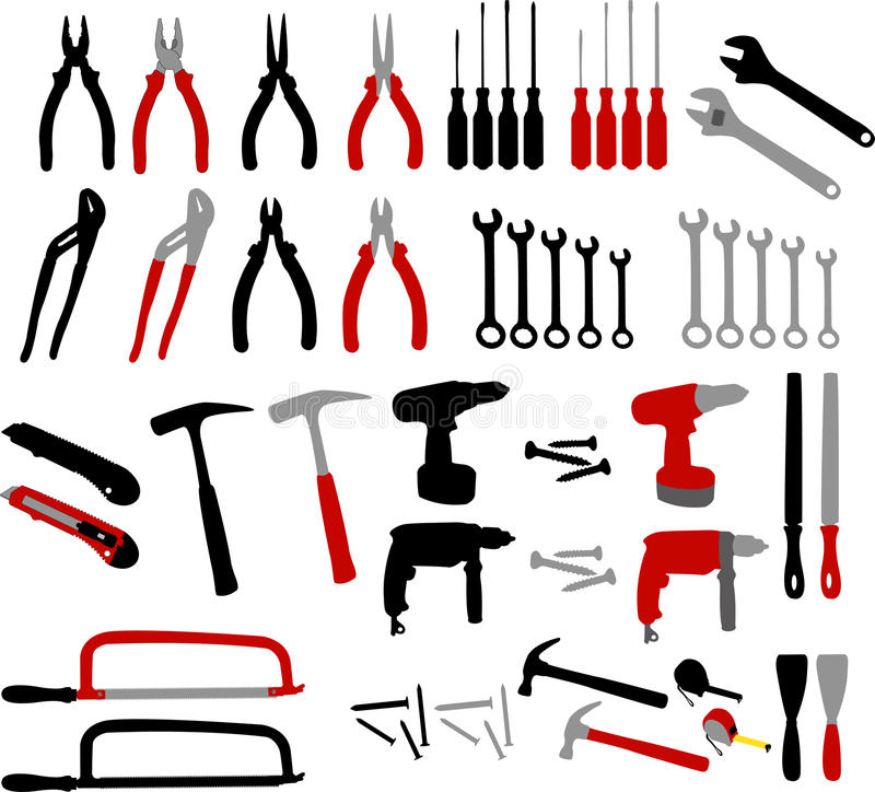 Tools -. Collection of tools - illustration vector illustration