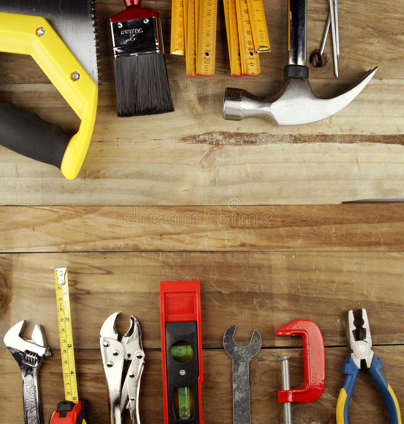 Download Tools stock image. Image of decking, bench, level, assorted - 25458453