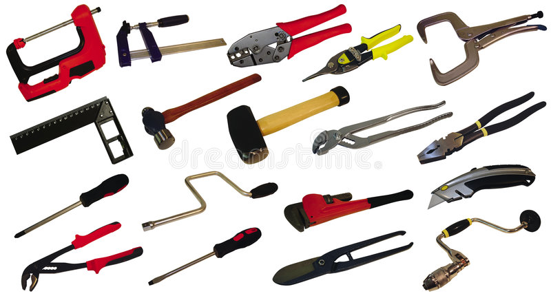 Tools. Set of tools isolated on a white background stock images