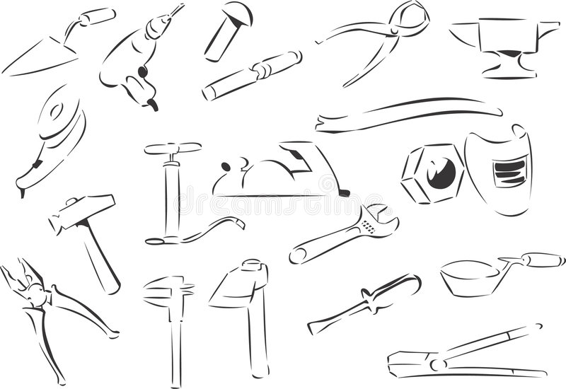 Tools. 20 themed EPS images related to tools.The number of vector nodes is absolute minimum. The images are very easy to use and edit and are extremely smooth vector illustration