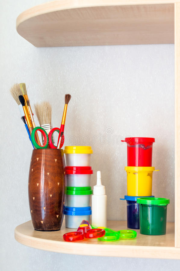 Download Tools of the artist stock image. Image of macro, bright - 27585303