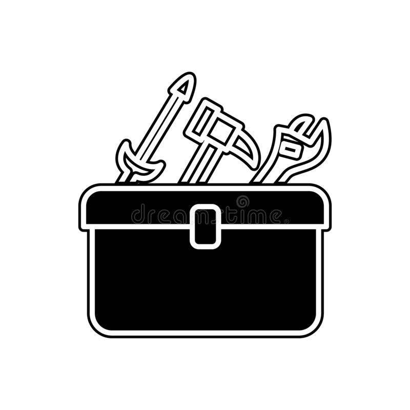 Tools bag icon. Element of Cars service and repair parts for mobile concept and web apps icon. Glyph, flat line icon for website. Design and development, app stock illustration