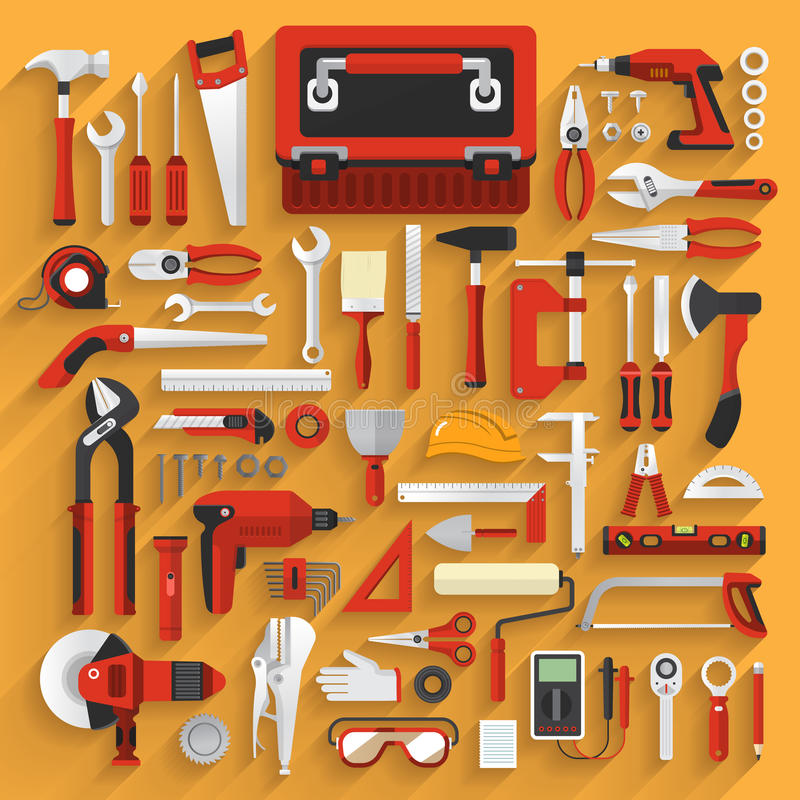 Tools box vector illustration