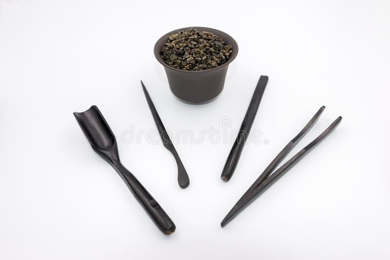 Tools for china tea ceremony stock photo