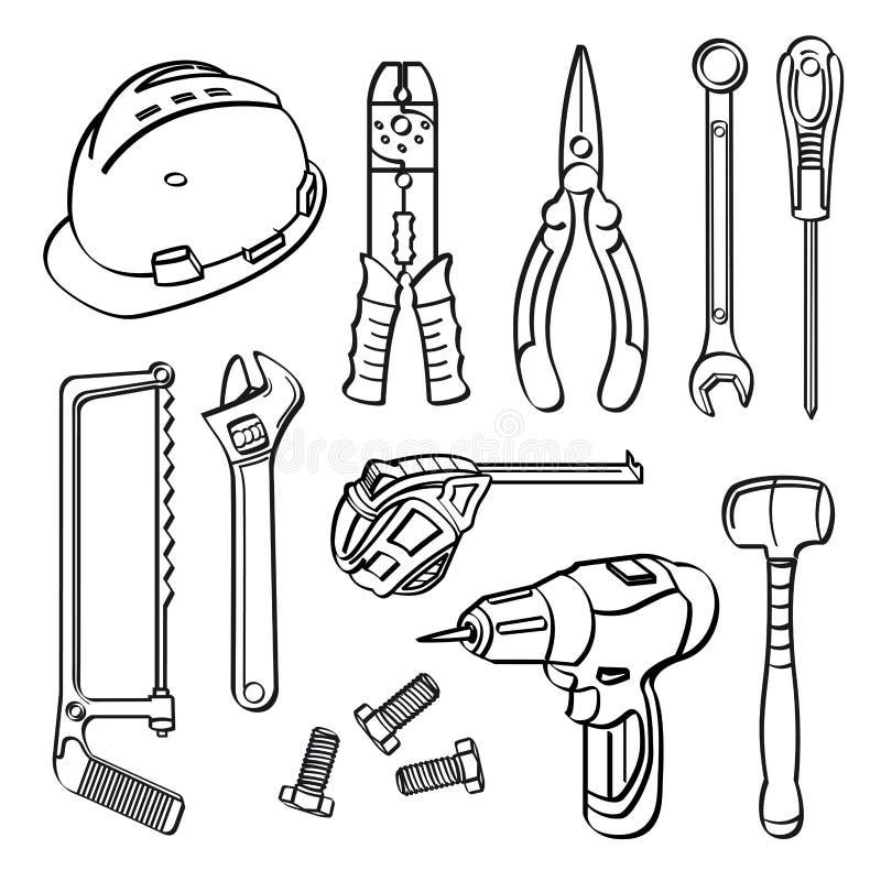 Building Tools Sketch Stock Illustrations – 1,100 Building