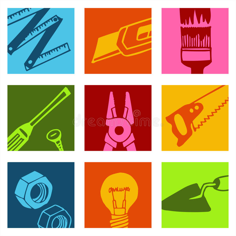 Free Tools Color Icons 2 Stock Images - 10551624