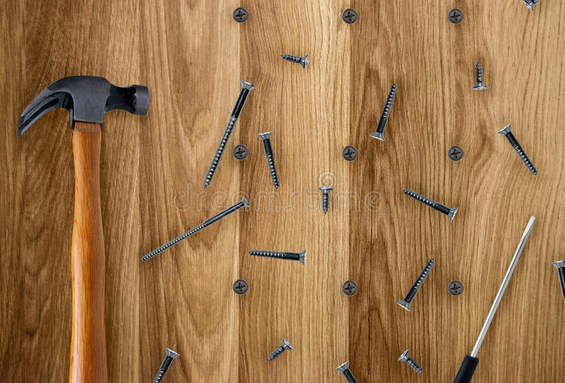 Tools for constructions stock photo