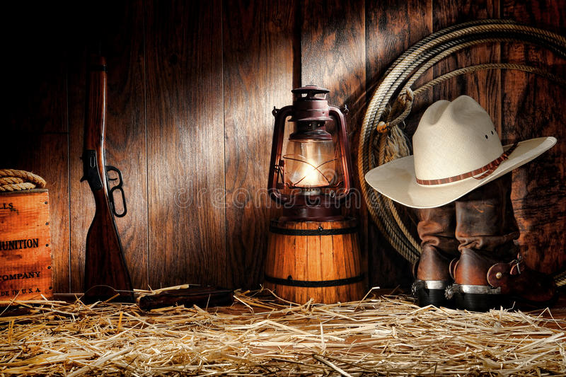 tools den gammala ranchingrodeoen för den amerikanska ladugården västra fotografering för bildbyråer