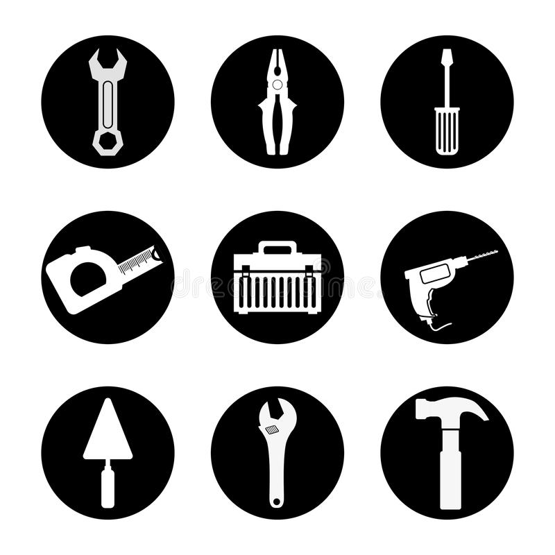 Tools design. stock illustration