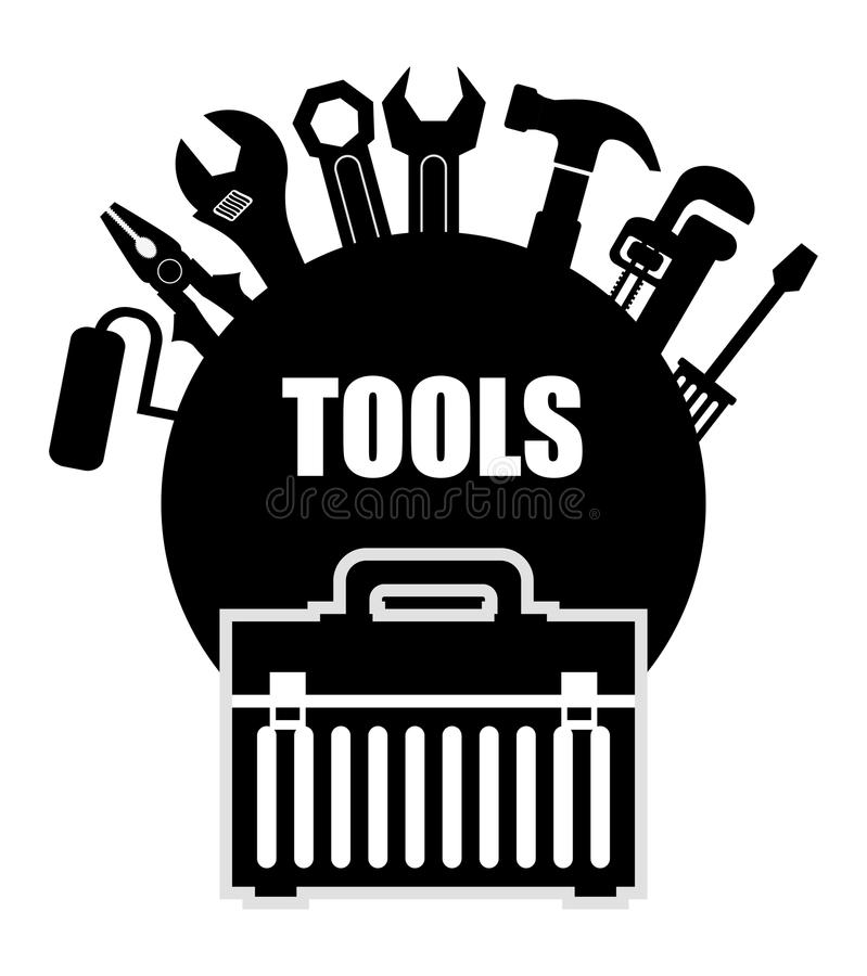 Tools design. royalty free illustration