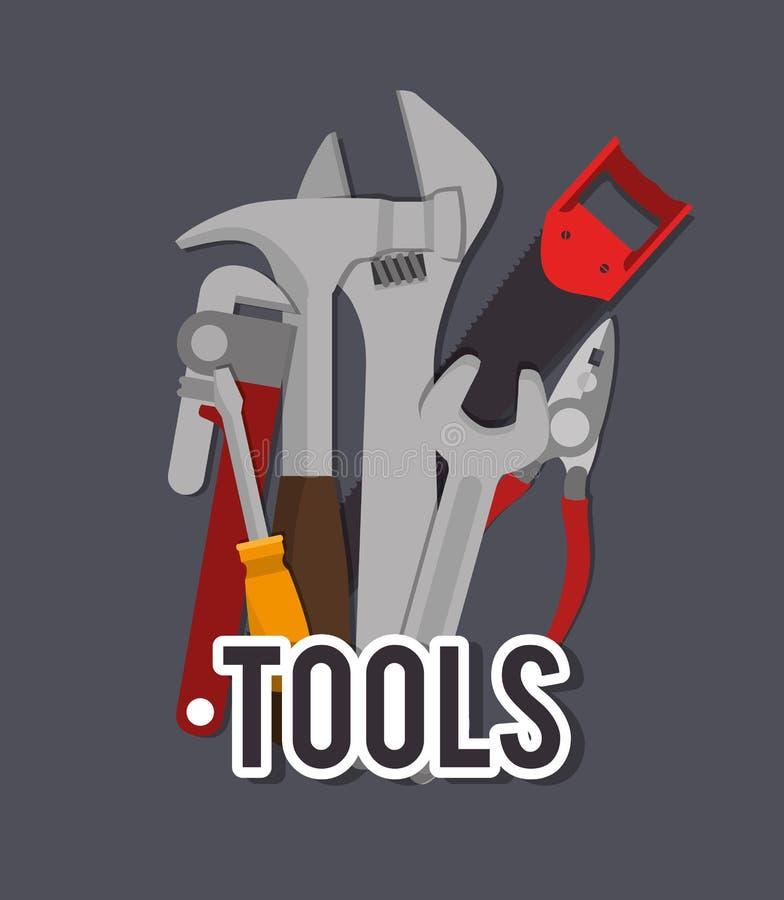Tools design, vector illustration. vector illustration