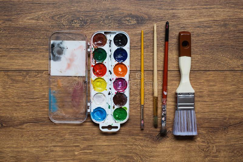 Tools for drawing. Love of art royalty free stock photos