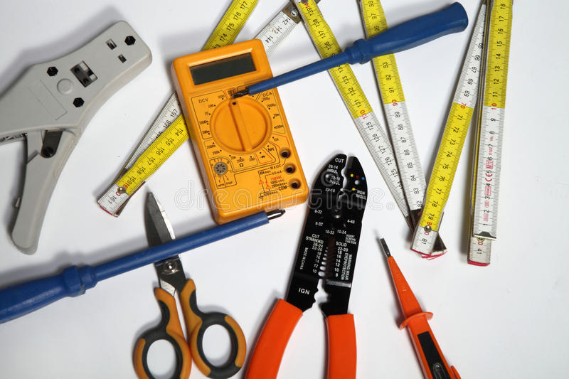 Tools for electricians royalty free stock image