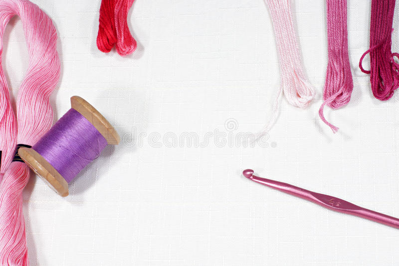 Tools For Embroidering Royalty Free Stock Image