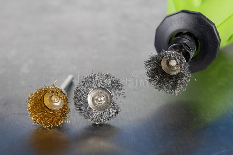 Tools for engraving, cutting and polishing. Accessories for engraving and small workshop work. royalty free stock images