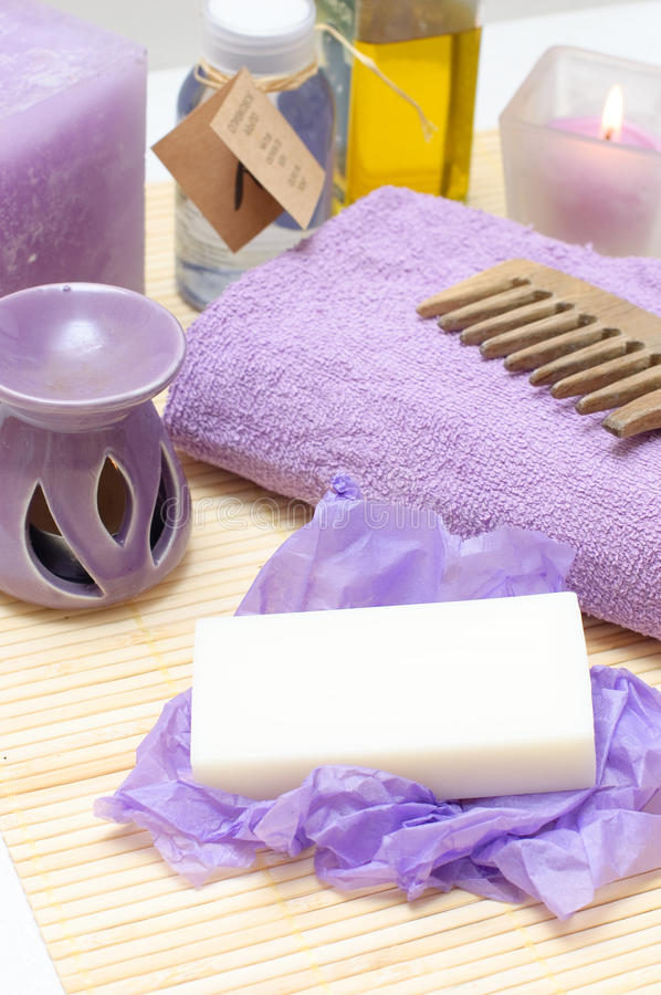 Free Tools For Body Care In The Spa Salon Stock Image - 12854011
