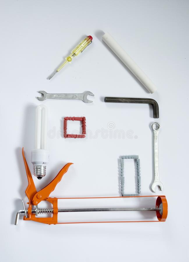Tools house stock photos