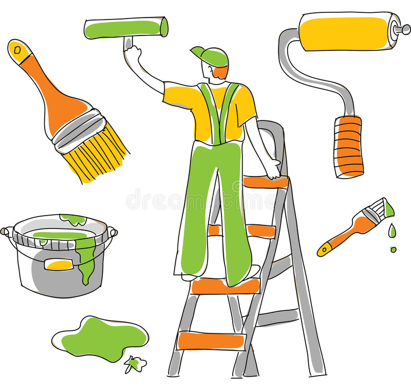 Tools & Housepainter vector illustration