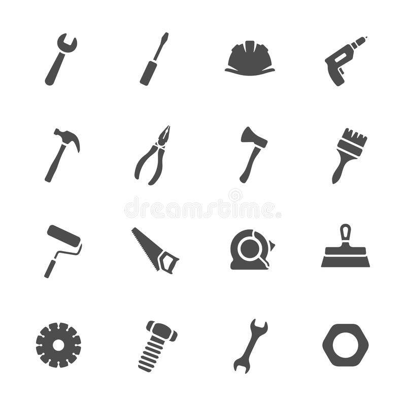 Tools icon set stock images