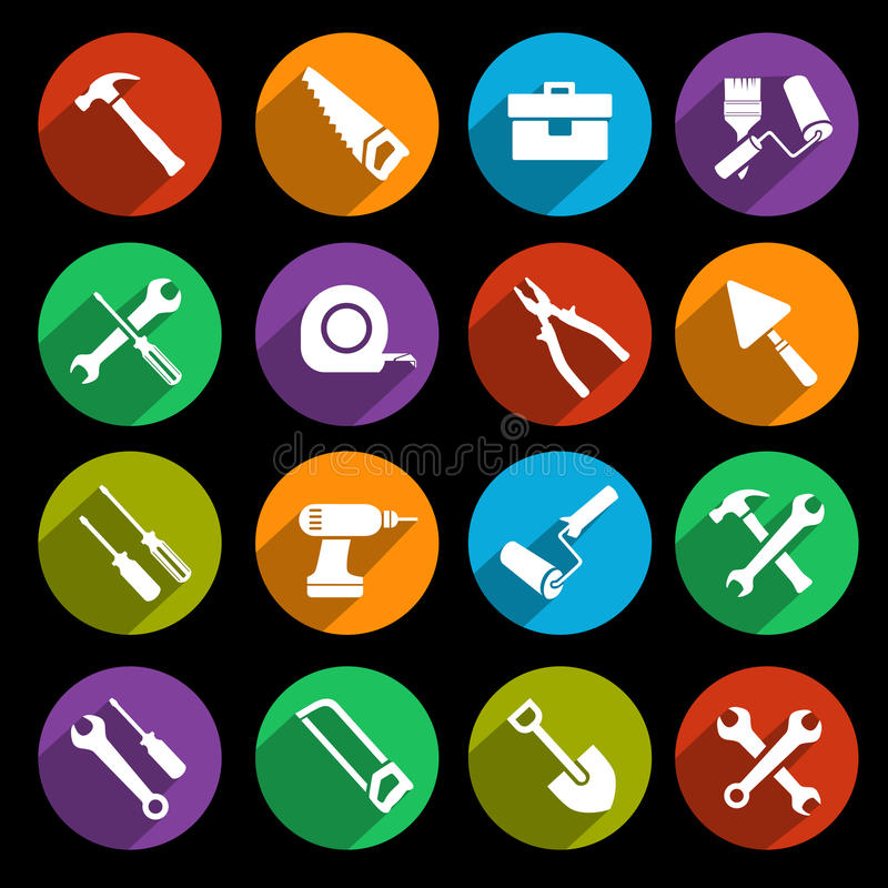 Free Tools Icons Set Stock Photo - 39802890
