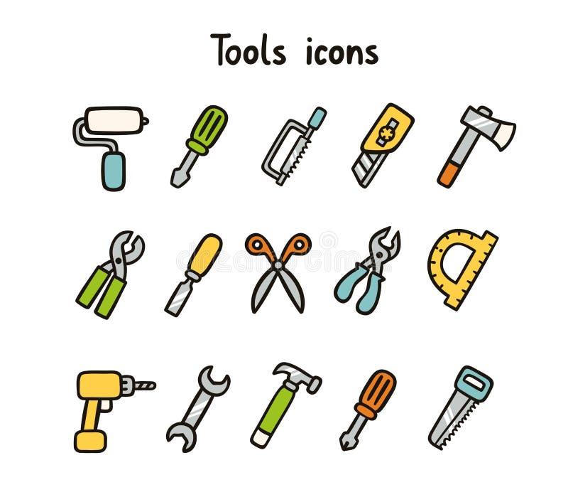 Tools icons stock illustration
