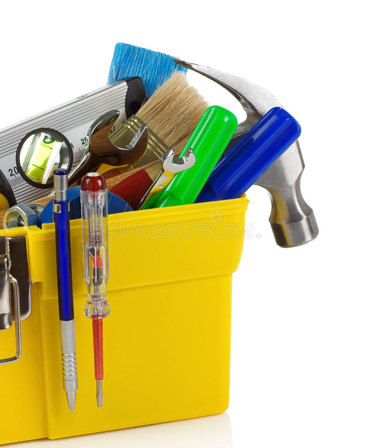 Download Tools And Instruments In Plastic Box Stock Image - Image: 19867089