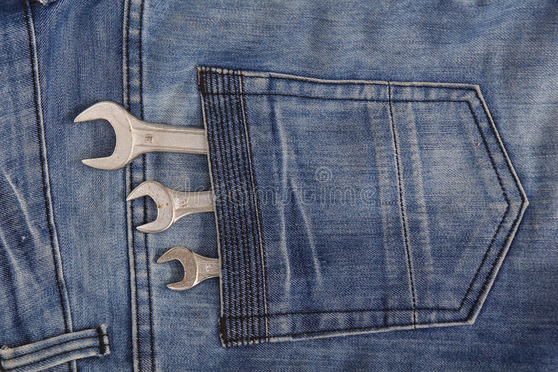 Download Tools in a jean pocket stock photo. Image of casual, pocket - 25286392
