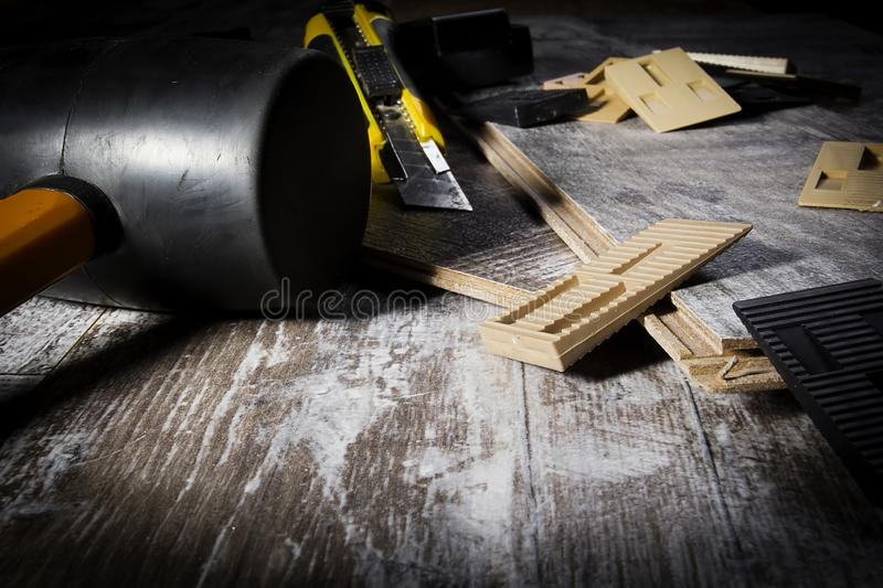 Tools for laying laminate stock images