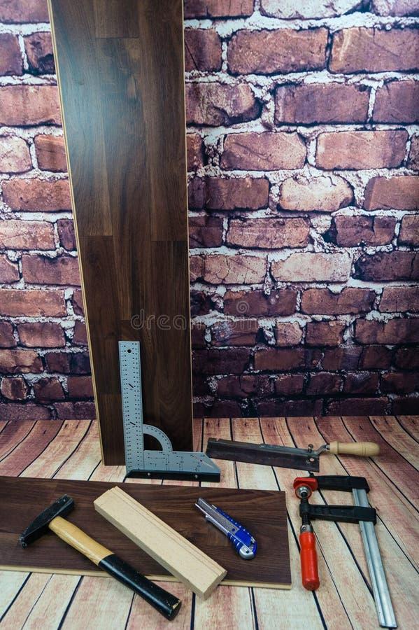 Laminate or parquet stock image