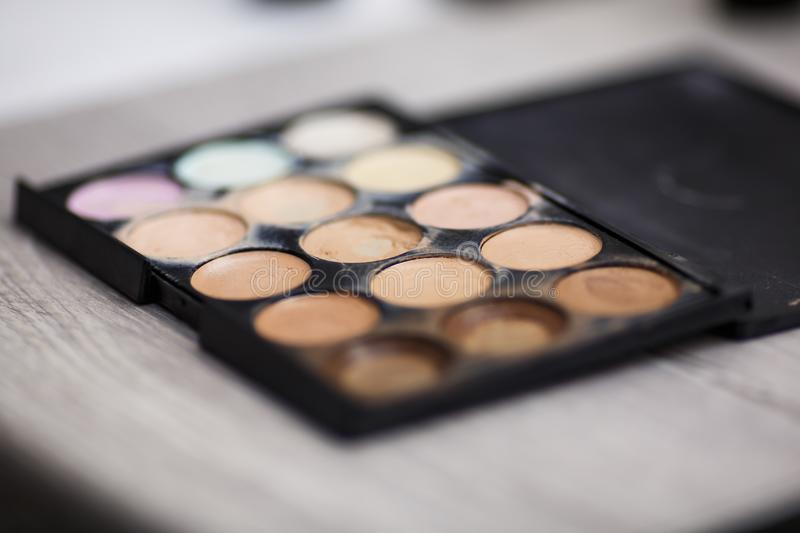 Tools for make-up artist stock photos