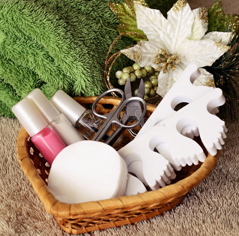 Tools for manicure and pedicure royalty free stock photos