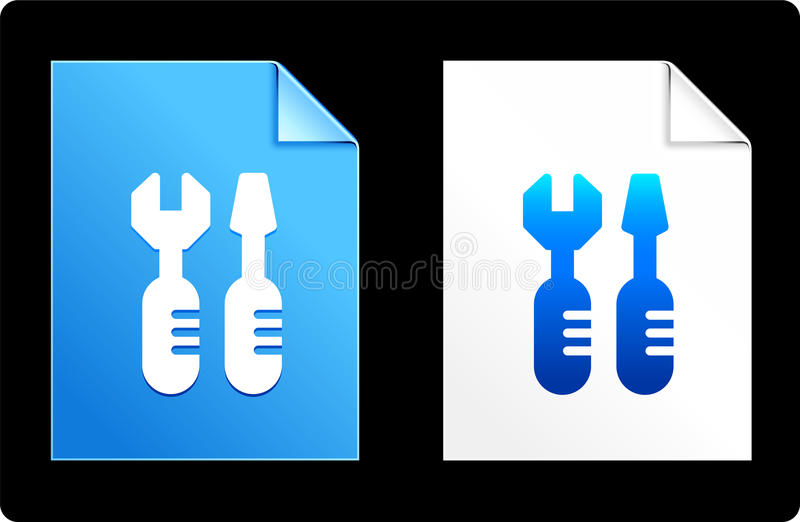 Tools on Paper Set vector illustration