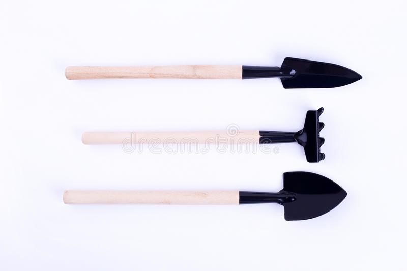 Tools for planting plants isolate royalty free stock image