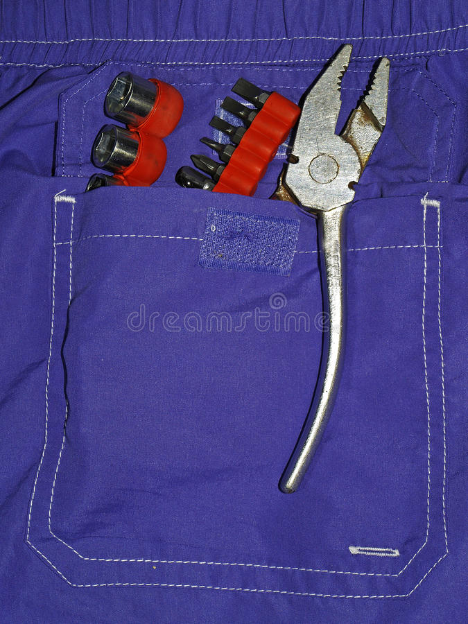 Download Tools pocket stock image. Image of technician, home, clippers - 28677939