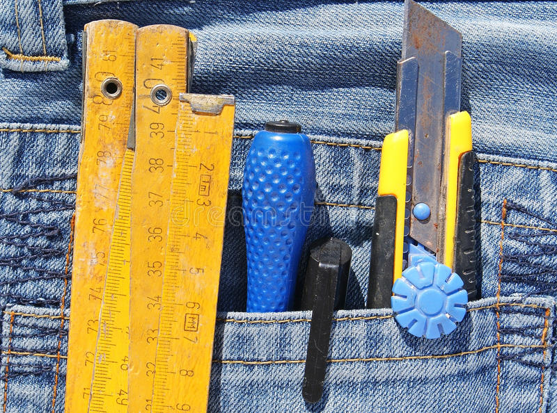 Download Tools in pocket stock photo. Image of metal, cotton, pants - 29573960