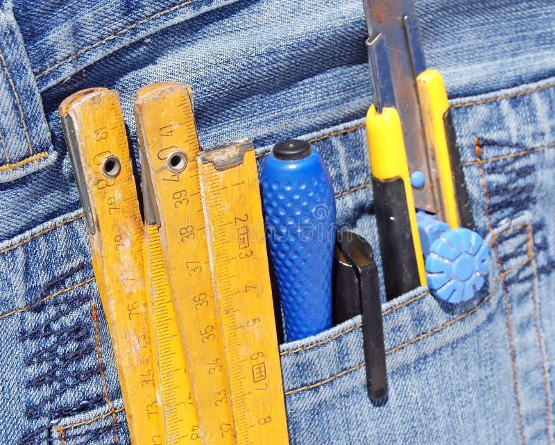 Download Tools in pocket stock image. Image of repairing, denim - 29574003