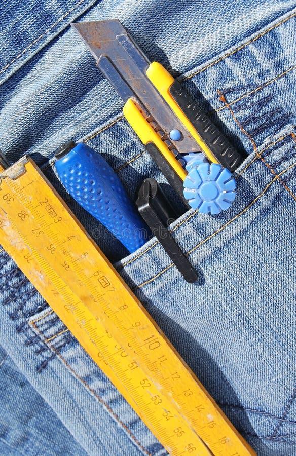 Tools In Pocket Royalty Free Stock Photos