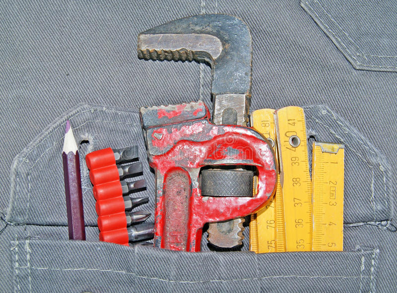 Tools In Pocket Royalty Free Stock Photography
